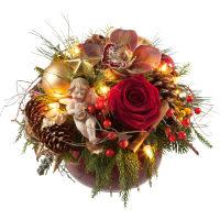 Weihnachtsgeschichte (mit Lichterkette)