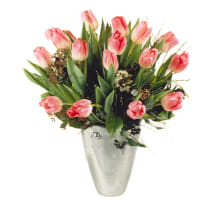 Bouquet de tulipes roses