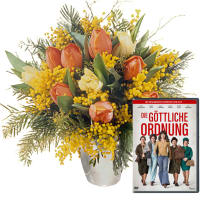 "Women's Day Bouquet with DVD ""The Divine Order"""