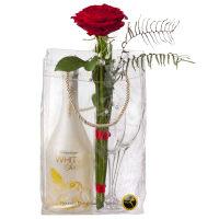 Douce romance avec WHITE Secco Cool Bag (75cl) et 2 flûtes