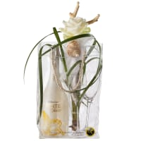 Elegance with WHITE Secco Cool Bag (75cl) and 2 Champagne Glasses
