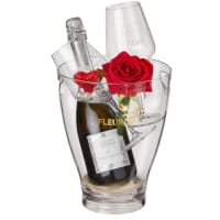 "I Love You: Prosecco Albino Armani DOC (75 cl) incl. ice bucket and two ""Connaisseur"" glasses"