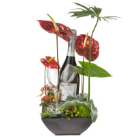 Exotic Wonder with Prosecco Albino Armani DOC (75cl) and  two sparkling wine flutes