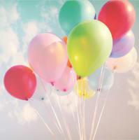 Karte Luftballons