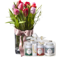 Tulip Princess (incl. vase) with Gottlieber tea gift set