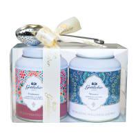 Coffret cadeau Gottlieber: thé aux fruits & thé blanc avec boule à thé