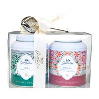 Coffret cadeau Gottlieber: thé aux fruits & thé vert avec boule à thé