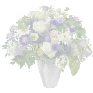 Cute Basket of Flowers with teddy bear (white)