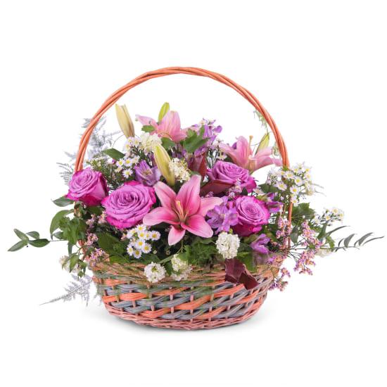 Spring Multicoloured Basket