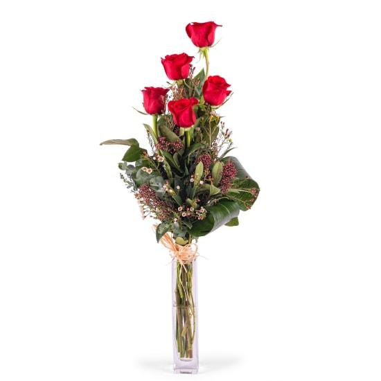 5 Long-stemmed Red Roses