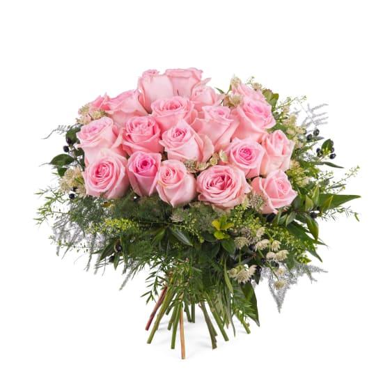 20 Short-stemmed Pink Roses