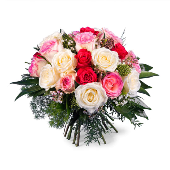 20 Short-stemmed Multicoloured Roses