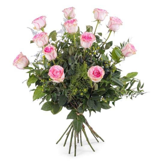 12 Long-stemmed Pink Roses
