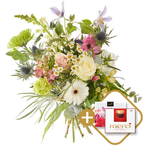 Bouquet: Super thanks incl. Merci.