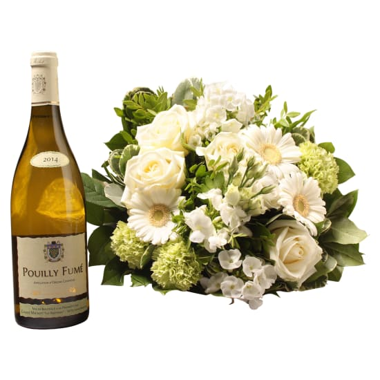 White bouquet with Pouilly Fumé