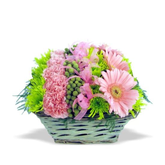 Fleurs Pink Basket
