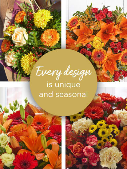 LARGE AUTUMN FLORIST CHOICE HAND-TIED