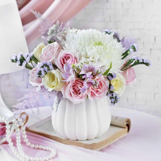 Blooming Tales in a Vase