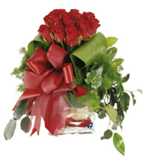 Gesteck zum Valentinstag