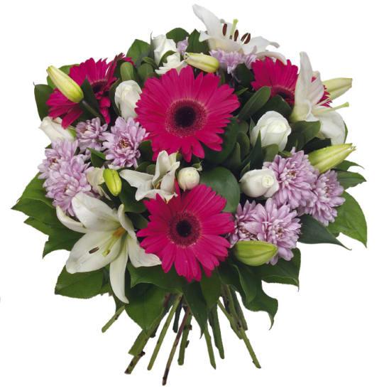 White Fushia Bouquet