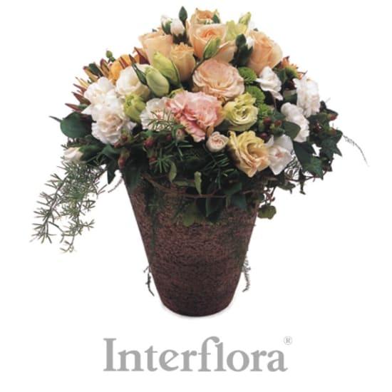 Saisonales Blumengesteck (mit Vase)