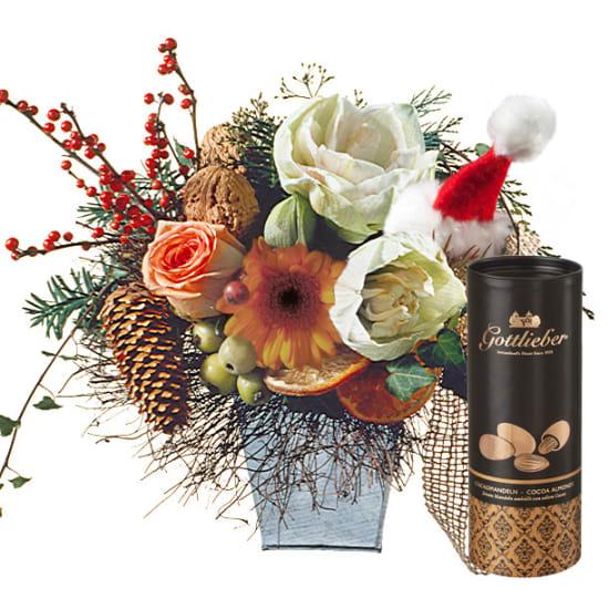 Fun Santa Bouquet with Gottlieber cocoa almonds