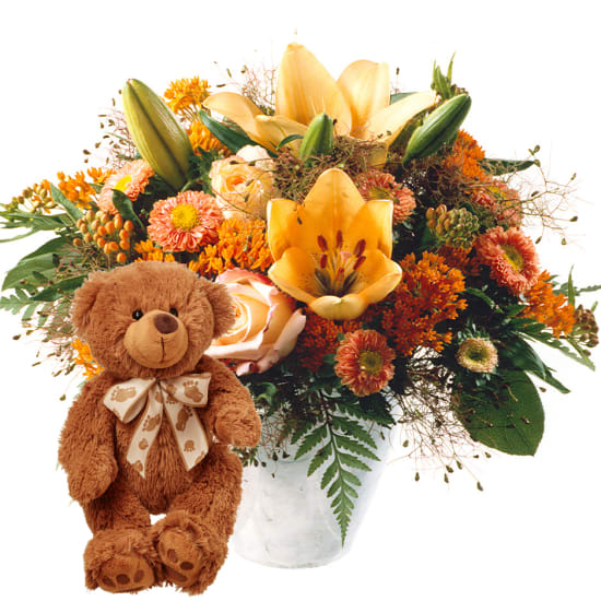 Lebensfreude, mit Teddybär (braun)