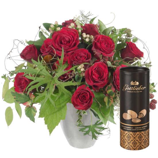 Bouquet I love you, mit Gottlieber Cacaomandeln