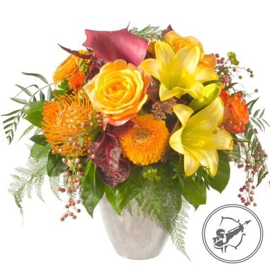 Blumenstrauss Schütze  (23.11. - 21.12.)