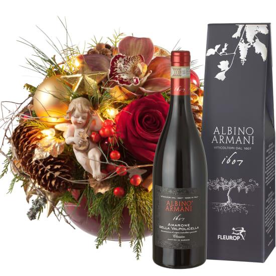 Weihnachtsgeschichte (mit Lichterkette), mit Amarone Albino Armani  DOCG (75cl)