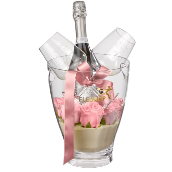 "Sweet & Chic: Prosecco Albino Armani DOC (75 cl) incl. ice bucket and two ""Connaisseur"" glasses"