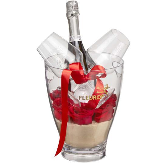 Süsse Romanze: Prosecco Albino Armani DOC (75 cl) inkl. Eiskühler und  zwei Connaisseur-Gläser