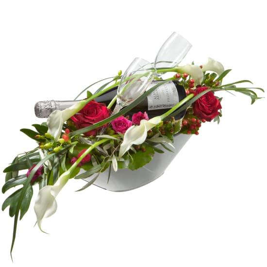 Die besten Glückwünsche mit Prosecco Albino Armani DOC (75cl) und  zwei Flûte-Gläser