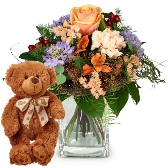 Klein aber Dein mit Teddybär (braun)