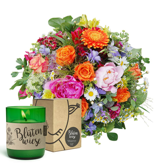 """Happy Day with LOOOPS candle """"Blütenwiese"""""""