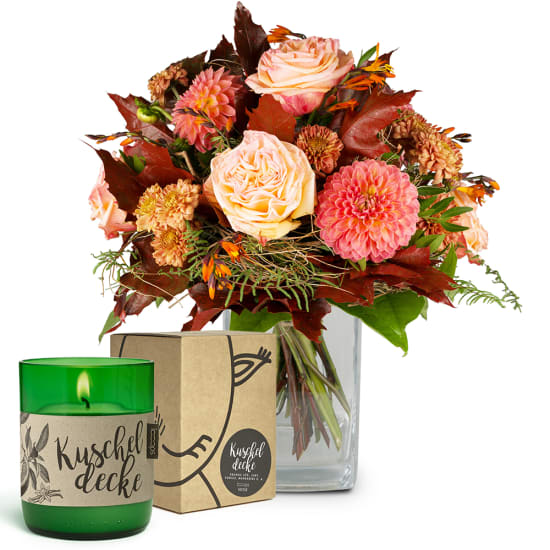 """Dream of Indian Summer with LOOOPS candle """"Kuscheldecke"""""""