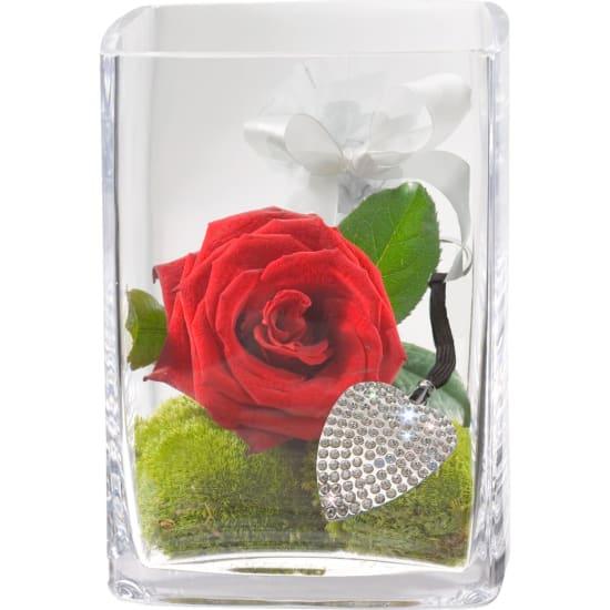 Schlüssel zum Herzen, inkl. Schlüsselanhänger mit 112 Kristallen von Swarovski®