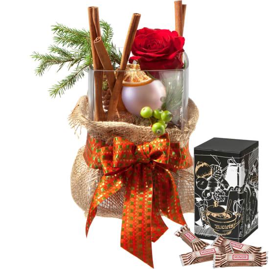 Santa's Surprise including vase with Minor Split in trendy gift tin