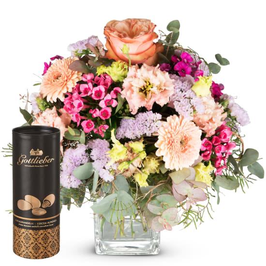 Bouquet du mois de mai avec amandes au cacao Gottlieber