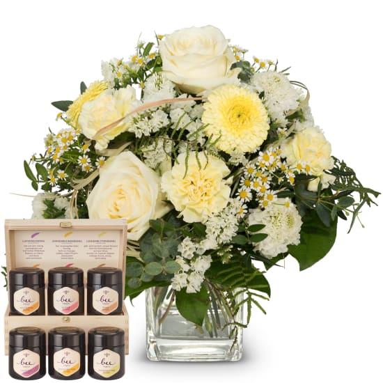 Légèreté naturelle avec coffret cadeau de miel