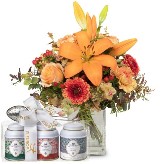 Lilien-Harmony mit Gottlieber Tee Geschenk-Set