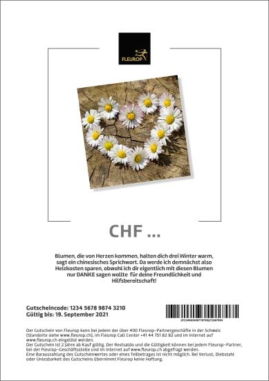 Bon cadeau «De tout cœur» (PDF)
