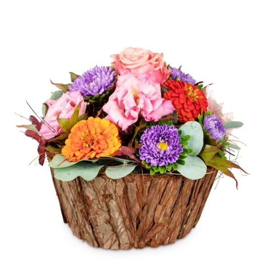 Doux panier fleuri