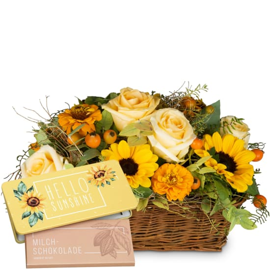 Enchantment of Nature with bar of chocolate «Hello Sunshine»