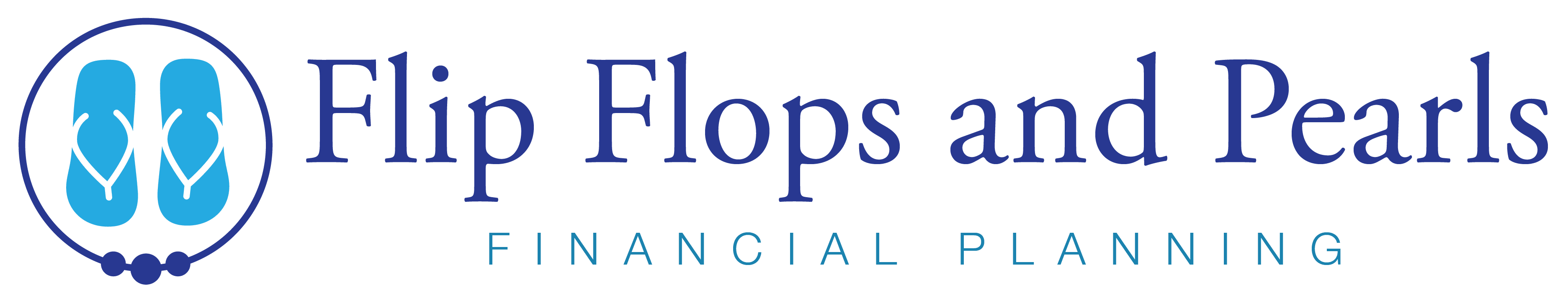 Flip Flops and Pearls Full horizontal logo