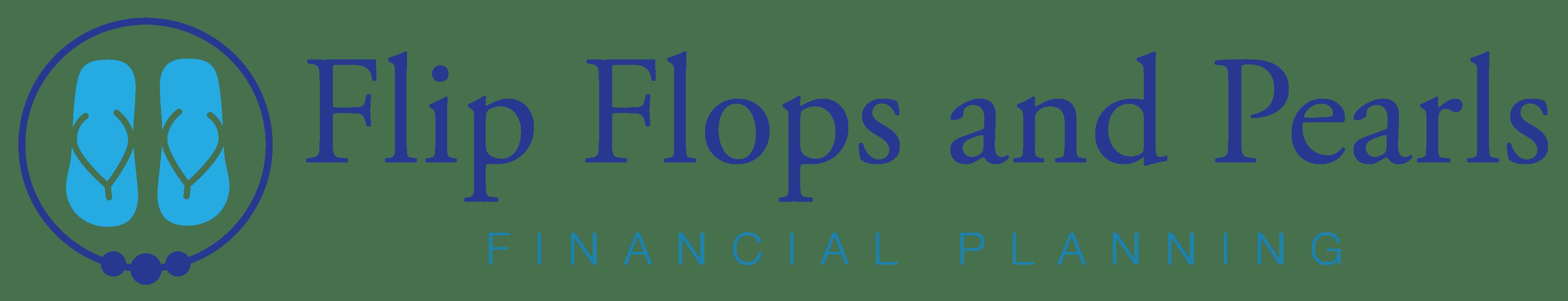 Flip Flops and Pearls Full horizontal logo