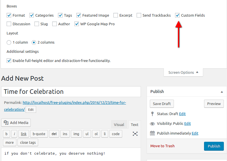Show Post location using Custom fields Wpmapspro