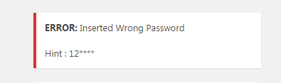 Security Question Answer Hint