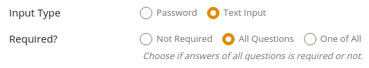 Security Answer Settings