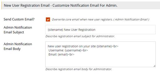 Admin Notification of User Registration